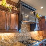 Tiled Back Splash, Raised Panel cabinets