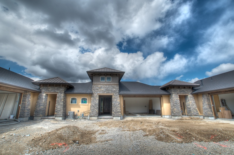 Exterior Photos of the Lakeside Collection in Rivers Bend.  Construction Progress