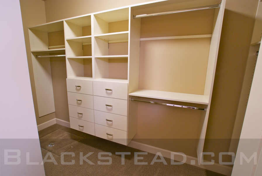 Custom closet shelves