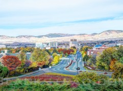 Beautiful Fall colors in Boise Idaho.