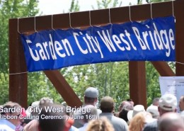 Garden City Bridge Ribbon Cutting