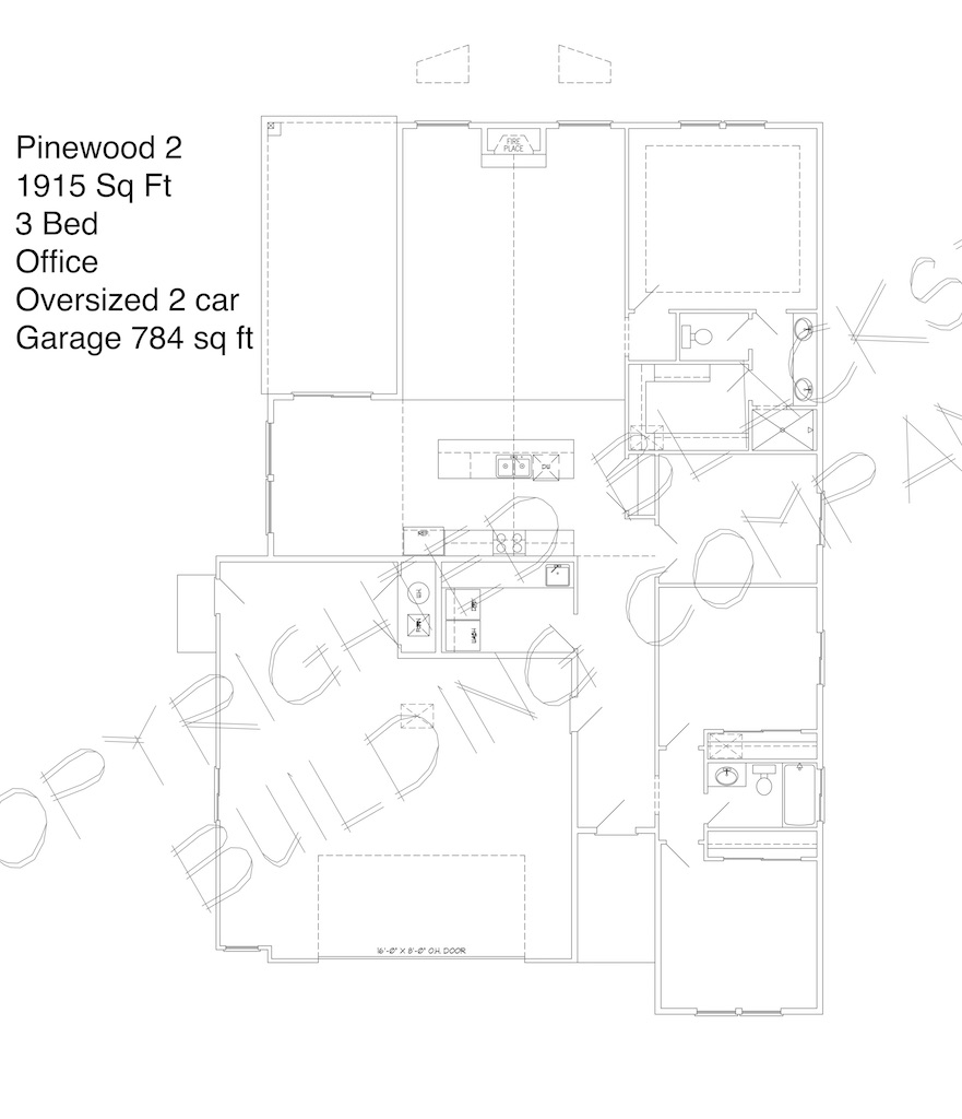 Pinewood 2 Car Floor Plan Blackstead Building Co